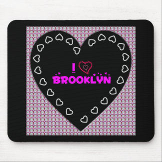 I Love Brooklyn Diamonds and Hearts Mousepad