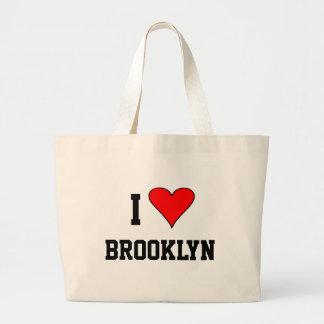 I Love Brooklyn Heart Large Tote Bag
