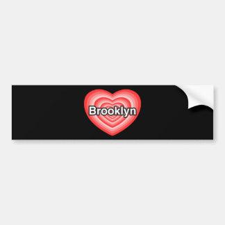 I love Brooklyn. I love you Brooklyn. Heart Bumper Sticker