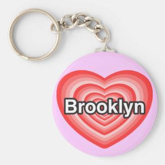 I love Brooklyn. I love you Brooklyn. Heart Keychain