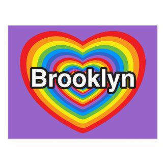 I love Brooklyn. I love you Brooklyn. Heart Postcard
