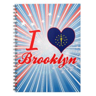 I Love Brooklyn, Indiana Spiral Notebooks