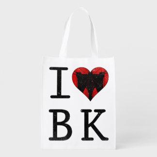 I Love Brooklyn New York Reusable Grocery Bag