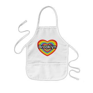 I love Brooklyn: rainbow heart Kids' Apron