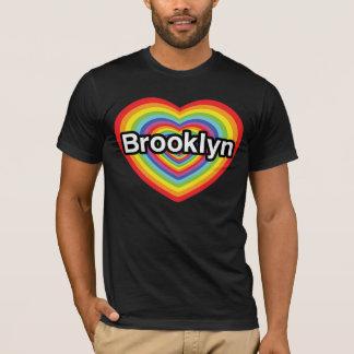 I love Brooklyn: rainbow heart T-Shirt