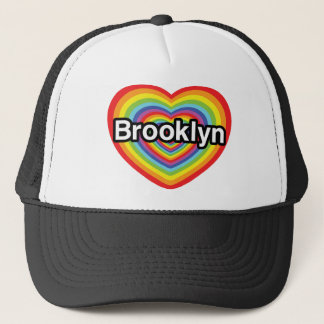 I love Brooklyn: rainbow heart Trucker Hat