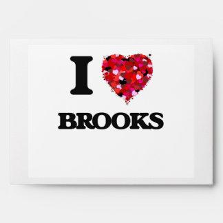 I Love Brooks Envelopes