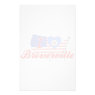 I Love Browerville, Minnesota Personalized Stationery