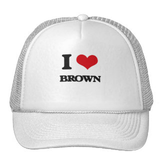 I Love Brown Trucker Hat