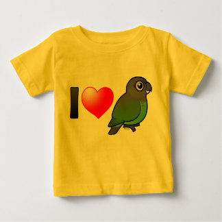 I Love Brown-headed Parrots Baby T-Shirt