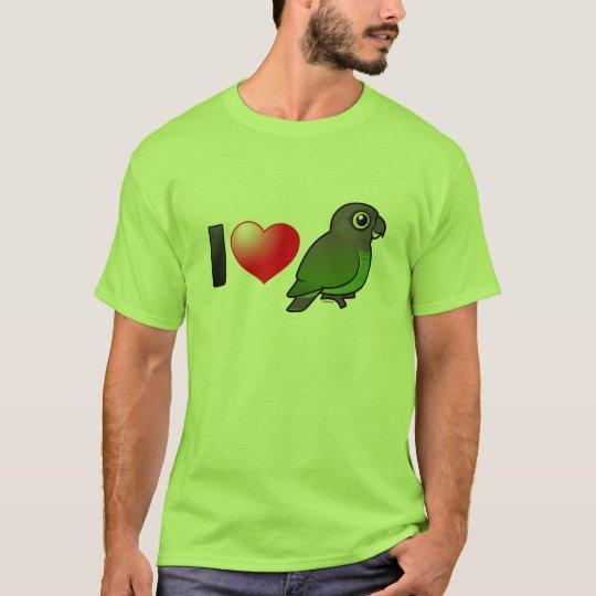 I Love Brown-headed Parrots T-Shirt