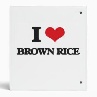 I Love Brown Rice Vinyl Binders