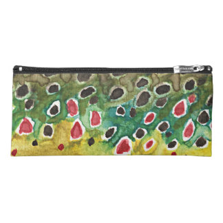 I Love Brown Trout Fishing Pencil Case