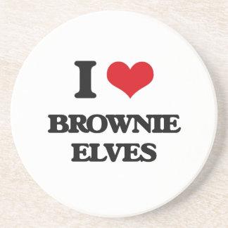 I love Brownie Elves Beverage Coaster