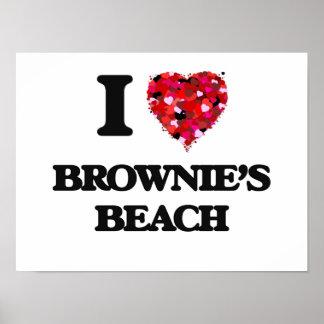 I love Brownie'S Beach Maryland Poster