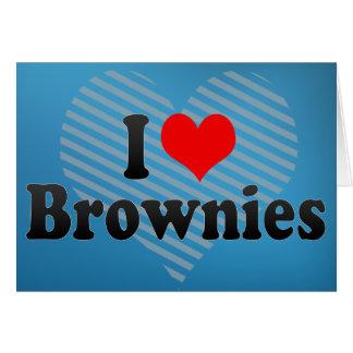 I Love Brownies Greeting Card
