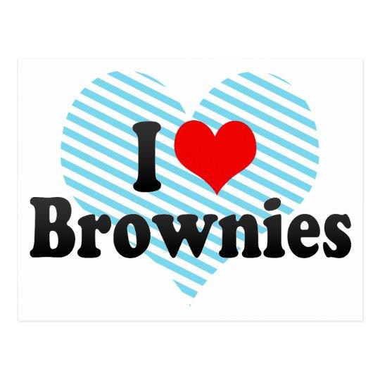 I Love Brownies Postcard