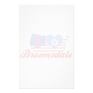 I Love Brownsdale, Minnesota Stationery Paper