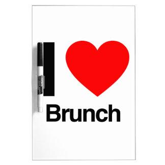 i love brunch Dry-Erase whiteboard