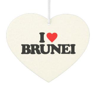 I LOVE BRUNEI CAR AIR FRESHENER