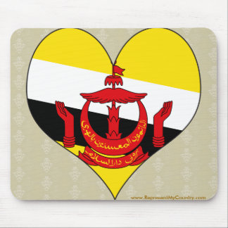 I Love Brunei Darussalam Mouse Pad