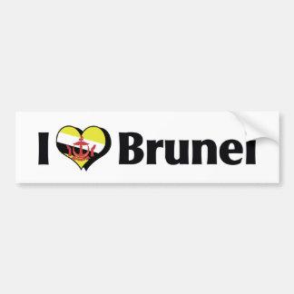 I Love Brunei Flag Bumper Sticker
