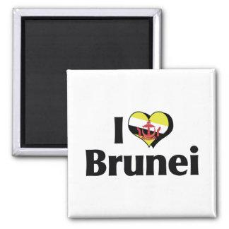I Love Brunei Flag Magnet