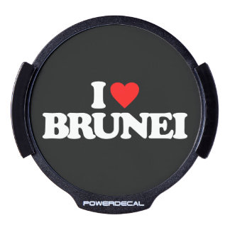 I LOVE BRUNEI LED CAR DECAL