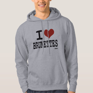 I love brunettes sweatshirt