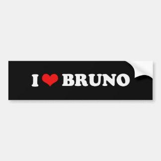 I LOVE BRUNO BUMPER STICKER