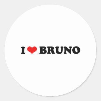I LOVE BRUNO CLASSIC ROUND STICKER