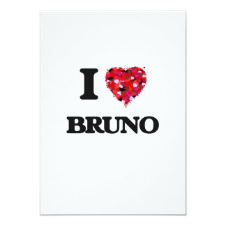 I Love Bruno 5x7 Paper Invitation Card