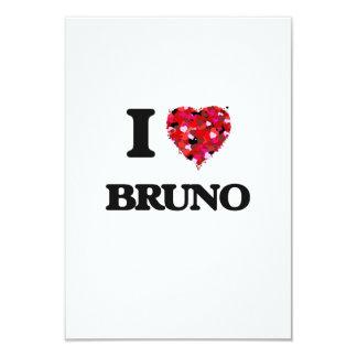 I Love Bruno 3.5x5 Paper Invitation Card