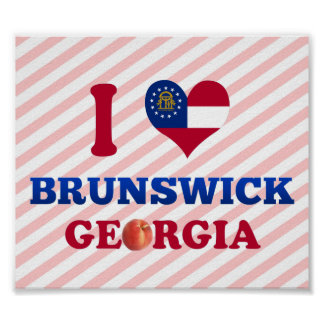 I Love Brunswick, Georgia Poster