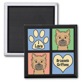 I Love Brussels Griffons Magnet