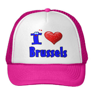 I LOVE  BRUSSELS  HAT