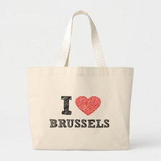 I Love Brussels Large Tote Bag