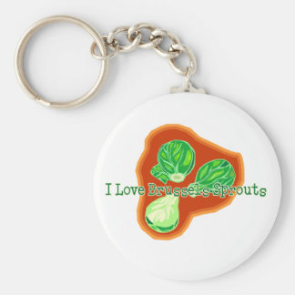 I Love Brussels Sprouts Basic Round Button Keychain