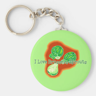 I Love Brussels Sprouts Keychain
