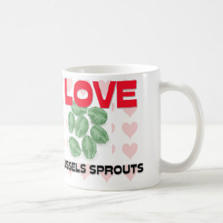 I Love Brussels Sprouts Coffee Mugs