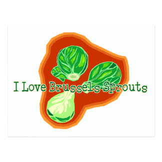I Love Brussels Sprouts Postcard