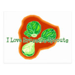 I Love Brussels Sprouts Postcards