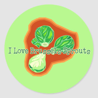 I Love Brussels Sprouts Classic Round Sticker