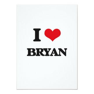 I Love Bryan 5x7 Paper Invitation Card