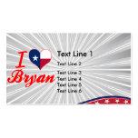 I Love Bryan, Texas Business Card Template