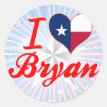 I Love Bryan, Texas Stickers