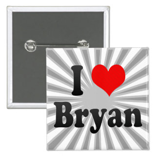 I Love Bryan, United States Buttons