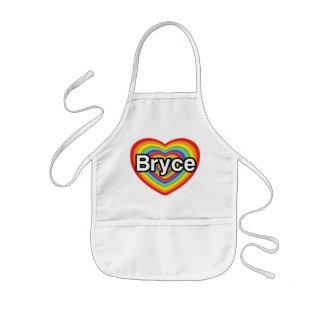 I love Bryce: rainbow heart Apron