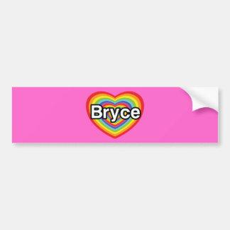 I love Bryce: rainbow heart Bumper Stickers