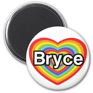 I love Bryce: rainbow heart Magnet